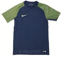 New Nike Men's M Revolution Iv Short Sleeve Soccer Jersey Green Navy Seattle