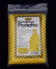 Emergency Rain Poncho Hooded Yellow FULL CASE Of 200 Adult Disposable Outdoor