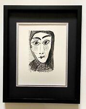 """Pablo Picasso """" La Gout Du Bonheur""""  Original Lithograph Framed"""