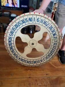 Vintage Painted Carnival Game Wheel