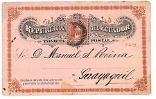 D74 1897 ECUADOR Postal Stationery Postcard HG.12 Scarce Used Example Guayaquil