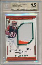 TYLER BOYD 2016 NATIONAL TREASURES RC GREEN AUTO 2 COLOR PATCH SP /83 BGS 9.5 10