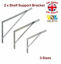 2 x shelf supports metal brackets galvanised 3 sizes 300 400 500mm 500 x 330mm