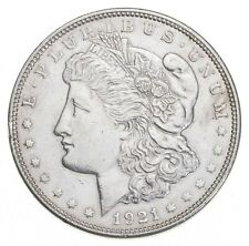 Choice AU/UNC 1921 Morgan Silver Dollar - Last Year of Issue - Great Luster *702