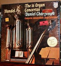 PHILIPS 5-LPs 6709-009: HANDEL - 16 Organ Concertos CHORZEMPA, 1976 DUTCH SEALED