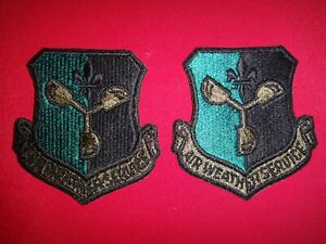 2 US AIR Force AIR WEATHER SERVICE Semi-Subdued Patches Never Worn