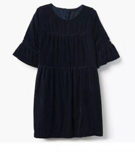 Gymboree Girls Navy Blue Velvet Christmas Holiday Dress Nwt Size 7