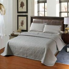 Quilt Pillow Case Set 100% Polyester Solid Color Queen King Size Bed Sheet Sets