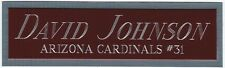DAVID JOHNSON CARDS NAMEPLATE AUTOGRAPHED SIGNED FOOTBALL HELMET JERSEY PHOTO