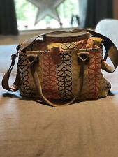 Orla Kiely Linear Stem Bag With Double Pockets