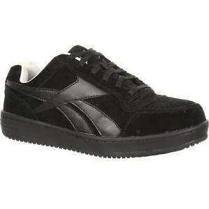 Reebok Soyay Men's Black Suede Steel Toe Work Skate Shoe