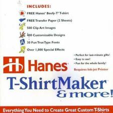 Hanes T-Shirt Maker PC CD print custom designed shirts own project templates!