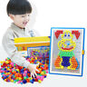 Children Kids Puzzle Peg Board With 296 Pegs Educational Toys Creative Gifts UK*