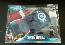 "New 2010 Marvel Captain America Off-Road Avenger Vehicle 9"" & Figure 4"" W/Missle"