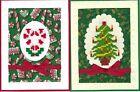Handmade CROSS STITCH  CHRISTMAS CARDS #CX-W--Lot of 2