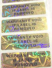 """100 GOLD MGR Hologram Security Label Sticker Seals .625"""" x 2"""" Tamper Evident"""