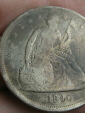 1840 Seated Liberty Silver Dollar- VG/Fine Details, Scarce Date