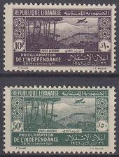Libanon Lebanon 1942 ** Mi.258/59 Unabhängigkeit Independence