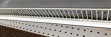 "10 Front Fence Gondola Shelving Streater Madix Lozier 48"" x 3"" Grey New"