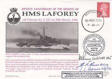 RNCH45b. HMS Laforey Sinking by U 223 Signed 3 Survivors
