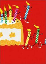 Running Birthday Candles A*Press Glitter Birthday Card by Avanti Press