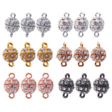 18pcs Round Ball Magnetic Beads Clasp for Necklace Bracelet Connector Clasp