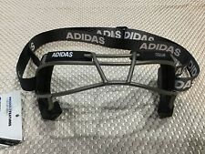 Adidas Eqt Oqular Lacrosse Goggles Black Titanium Cage $60 Msrp New with Tags