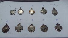 Irish silver pocket watch fob / medal