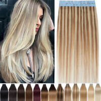 THICK Tape in 100% Human Hair Extensions Real Remy Straight Mixed Blonde 8A BEST