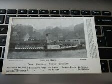 More details for postcard  p8 d22 tyne general ferry company advertising postcard newcastle  a