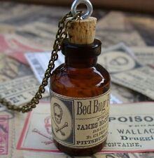 Steampunk necklace pendant apothecary bottle gothic lolita charm Victorian wicca