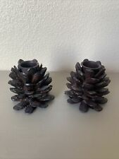 Unbranded Pinecone Taper Style Candle Holders