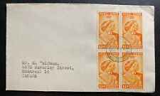 1948 Northern Rhodesia cover To Canada  King George Royal Silver Weeding