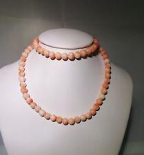 Collana Corallo rosa Italian Coral sust 18k Gold.Affare!