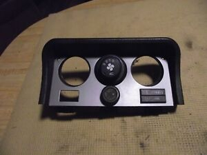 1983-1985 PORSCHE 944 OEM AC BLOWER SWITCH AND BROWN BEZEL ASSEMBLY...NICE