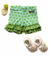 Matilda Jane Size 12 Months Wonderful Parade Green Puzzle Shorties New