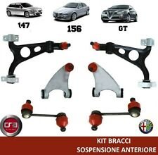SET ARMS SUSPENSION FRONT ALFA ROMEO 147 156 GT (6 PIECES) 2 years warranty