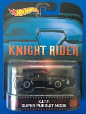RARE 2013 Hot Wheels Retro Entertainment KNIGHT RIDER KITT PURSUIT MODE - mint!