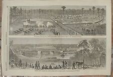 1865 Antique Prints - CIVIL WAR - Columbia, S. Carolina - Battle of Black River