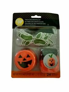 Jack O'Lantern Halloween Cupcake Combo Pack Makes 12 Liners Picks Ghosts Wilton