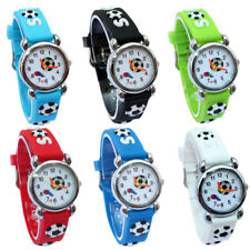 Hot Football Children Watch Kids Girls Boy Rubber Silicone Quartz Wristwatch A13