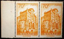 Monaco 1957 70f paire Neuf** / MNH