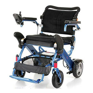 Foldalite Electric Wheelchair - Lithium ion Batteries Digital Advance Joystick