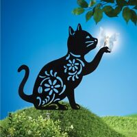 Solar Lighted Howling Wolf Silhouette Arched Outdoor Yard Stake Flag