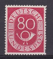 DB725) West Germany 1951 80pf Posthorn Mint Unhinged