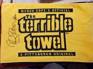 signed Pittsburgh Steelers terrible towel