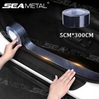Car Sticker Carbon Fiber DIY Door Sill Protector Edge Guard Strip Film Decal 3M