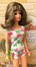 Vintage REPRO Bendable FRANCIE Barbie With Original Repro Swim Suit Display-NICE