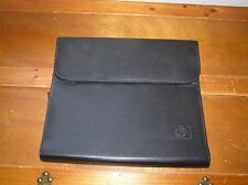 Gently Used Hewlett Packard Black Leather Chrome Book or Other Lap Top Case Prot