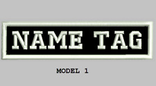 """Custom Embroidered 4"""" x 1"""" Name Patch Motorcycle Biker  Iron on/sew on"""